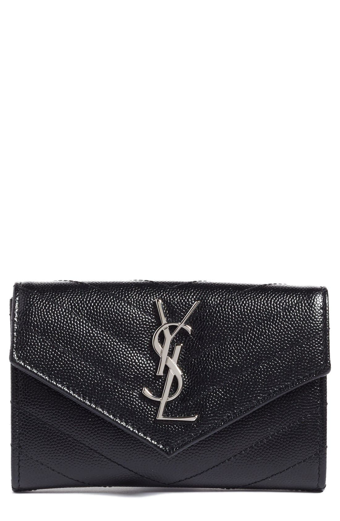 SAINT LAURENT Small Monogram Leather French Wallet