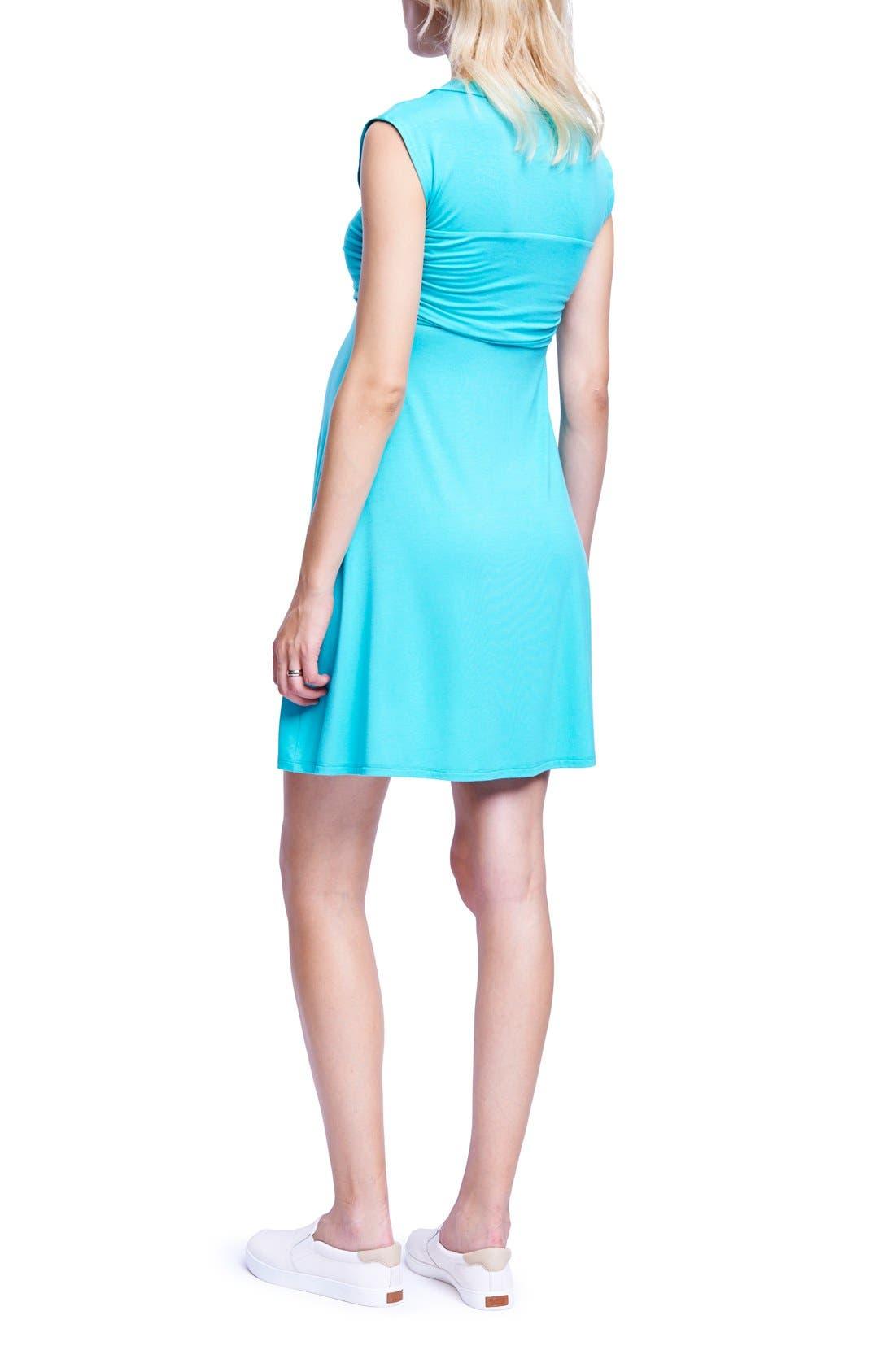 'Mini Sweetheart' Dress,                             Alternate thumbnail 2, color,                             Mint