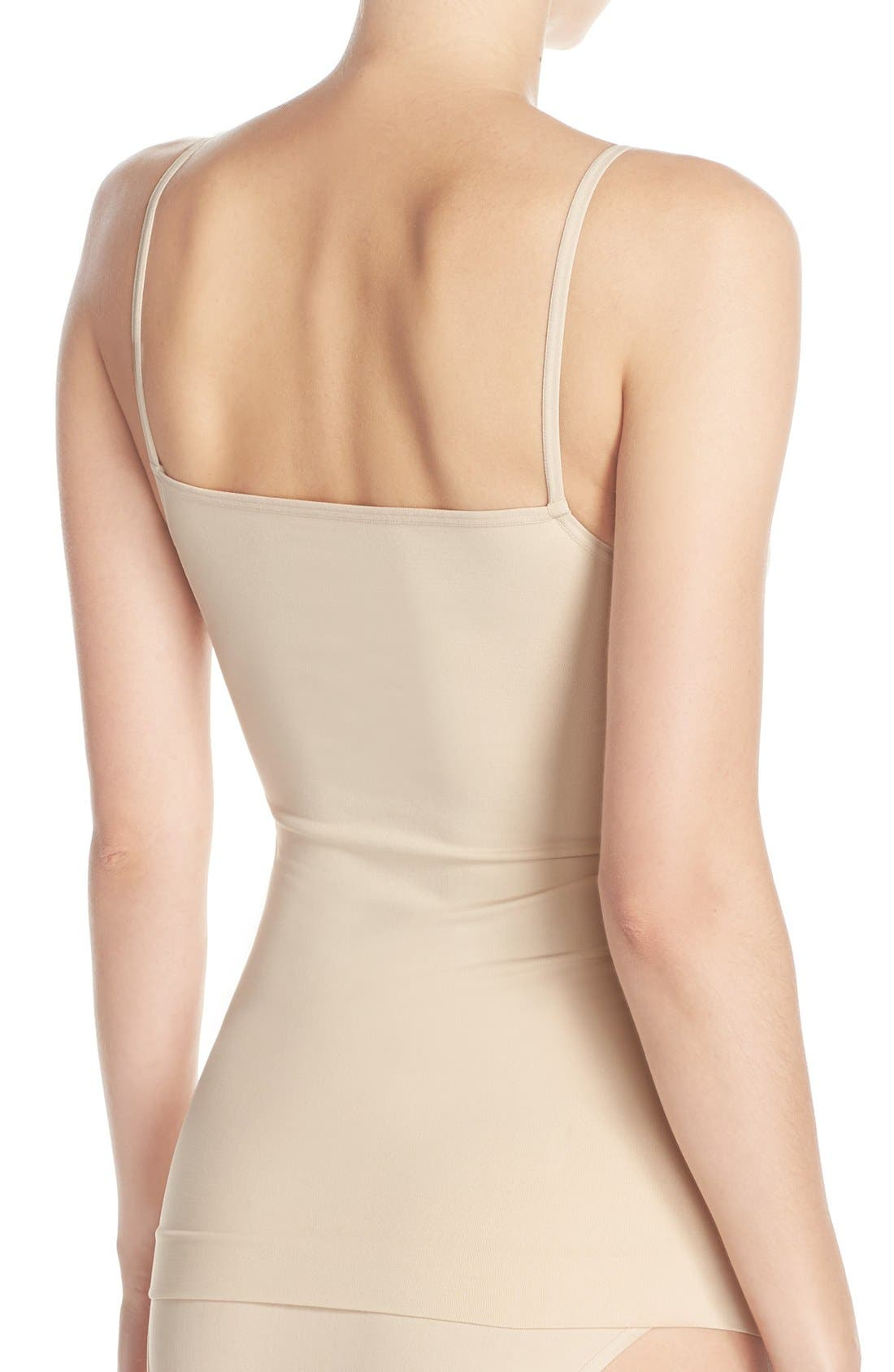 Alternate Image 2  - Nordstrom Lingerie Two-Way Seamless Camisole