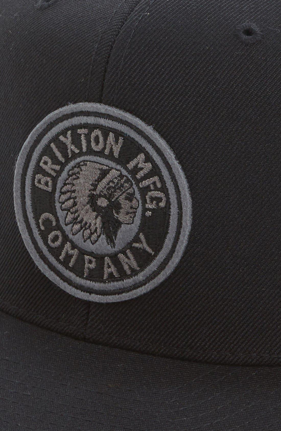 'Rival' Snapback Baseball Cap,                             Alternate thumbnail 2, color,                             Black