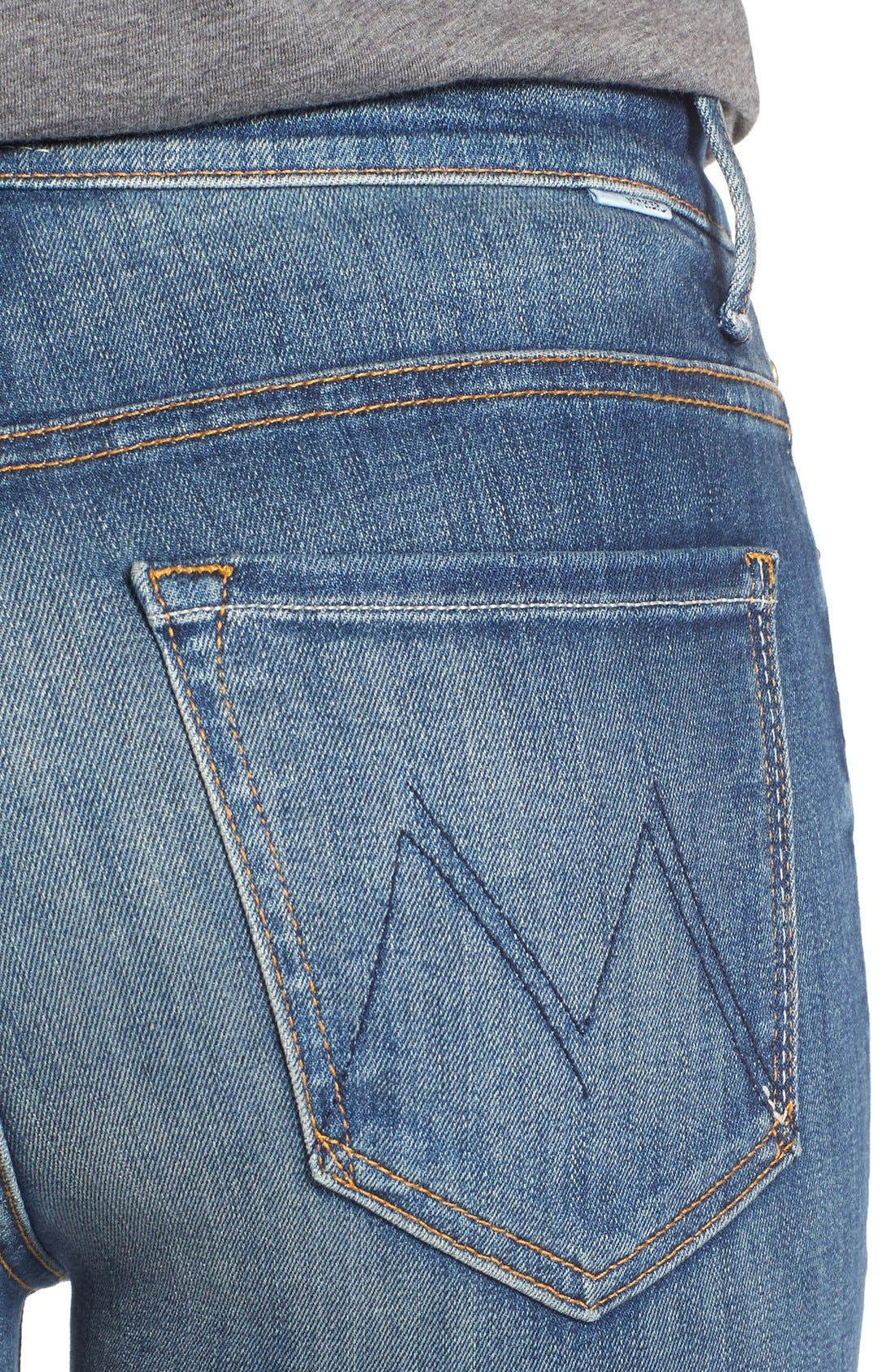 Alternate Image 4  - MOTHER 'The Insider' Crop Step Fray Jeans (Not Rough Enough)