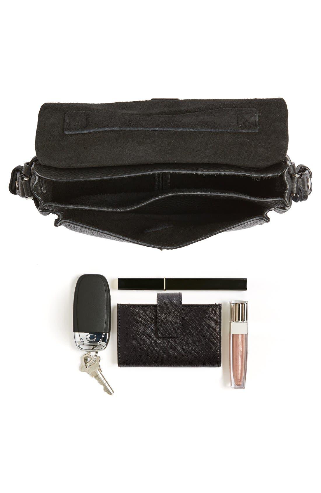 'Small Darren' Leather Messenger Bag,                             Alternate thumbnail 7, color,