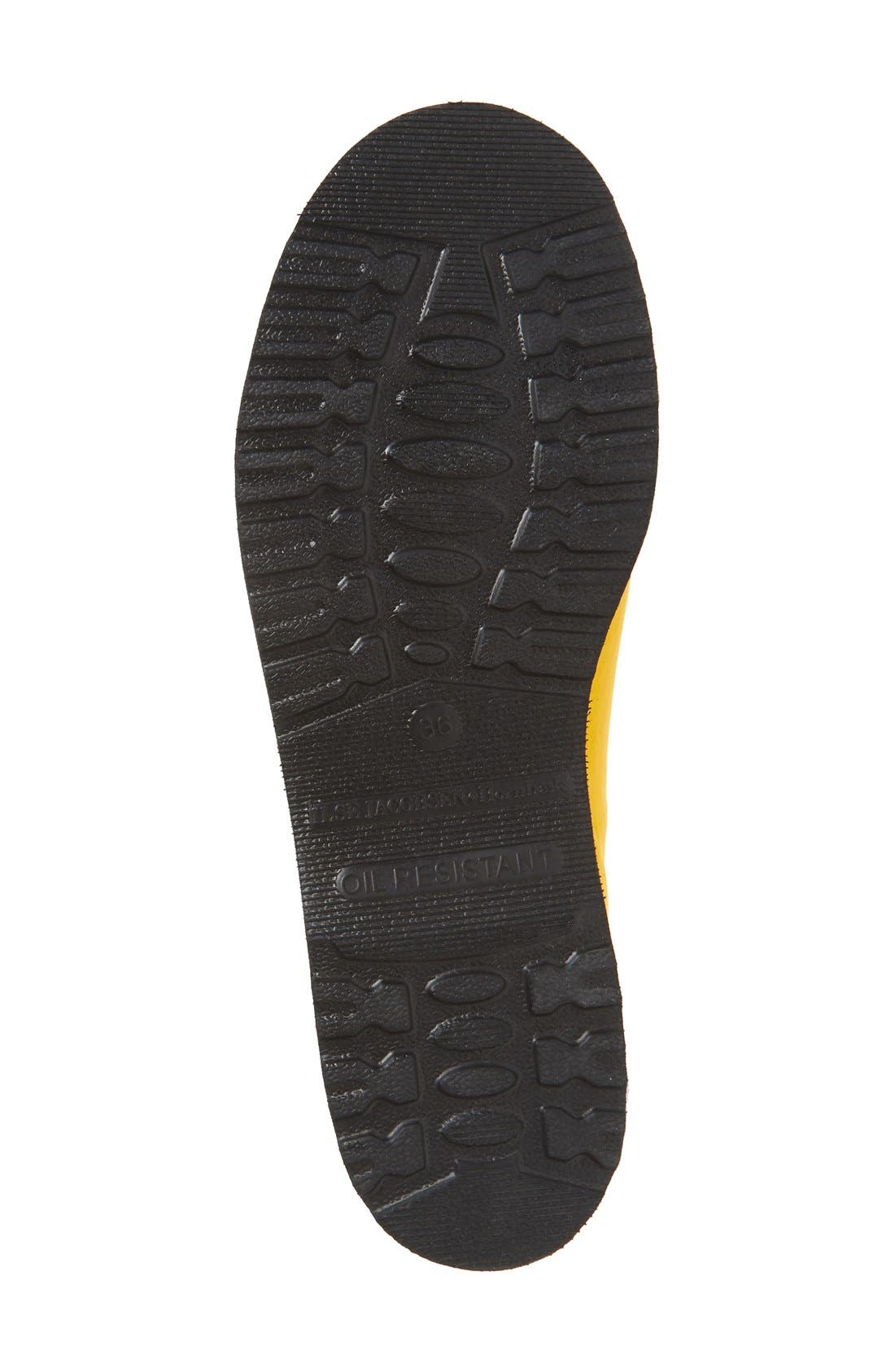 Hornbæk Rubber Boot,                             Alternate thumbnail 4, color,                             Cyber Yellow