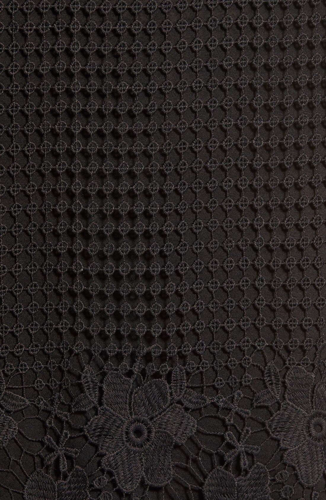 Alternate Image 5  - Willow & Clay Appliqué High Neck Midi Dress