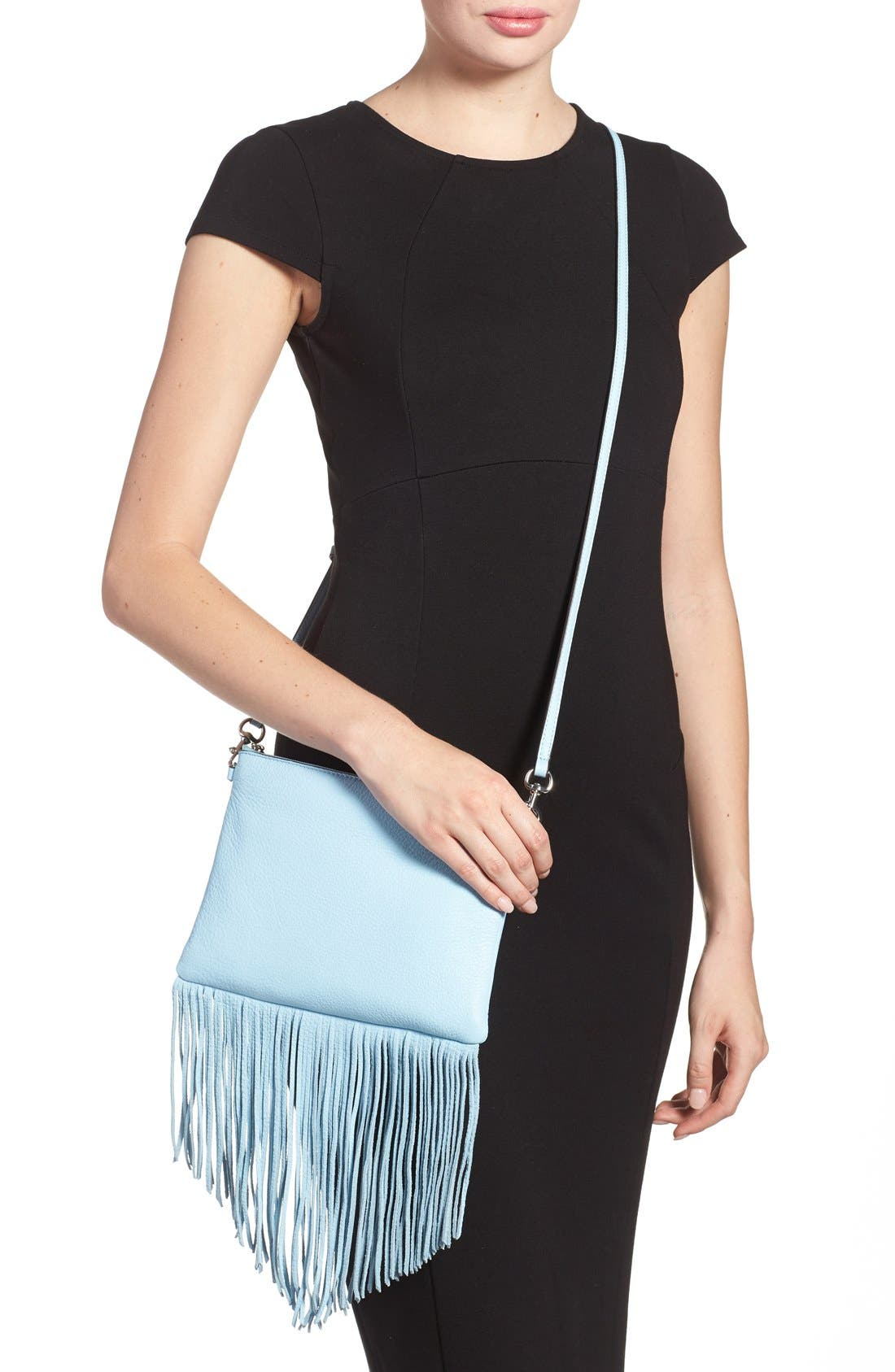 Alternate Image 3  - Rebecca Minkoff 'Fringe Jon' Leather Crossbody Bag