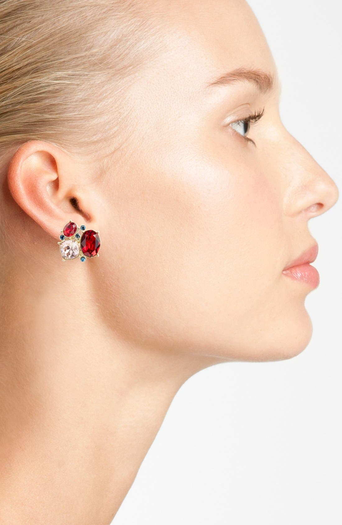 Alternate Image 2  - St. John Collection Swarovski Crystal Cluster Earrings
