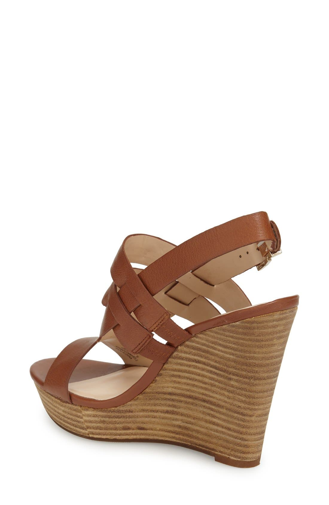 'Jenny' Slingback Wedge Sandal,                             Alternate thumbnail 2, color,                             Equestrian Tan