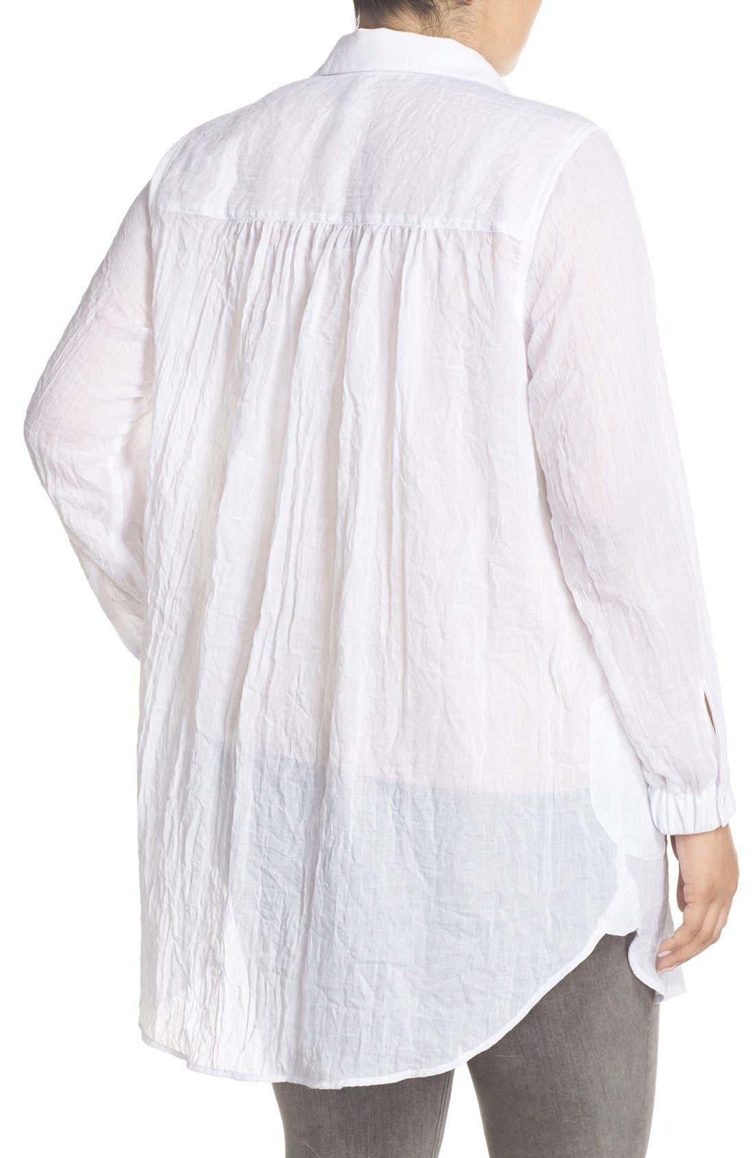 Alternate Image 2  - Melissa McCarthy Seven7 Patch Pocket Tunic Shirt (Plus Size)