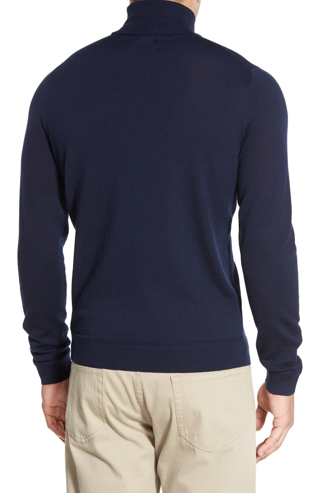 Alternate Image 2  - John W. Nordstrom® Wool Turtleneck Sweater