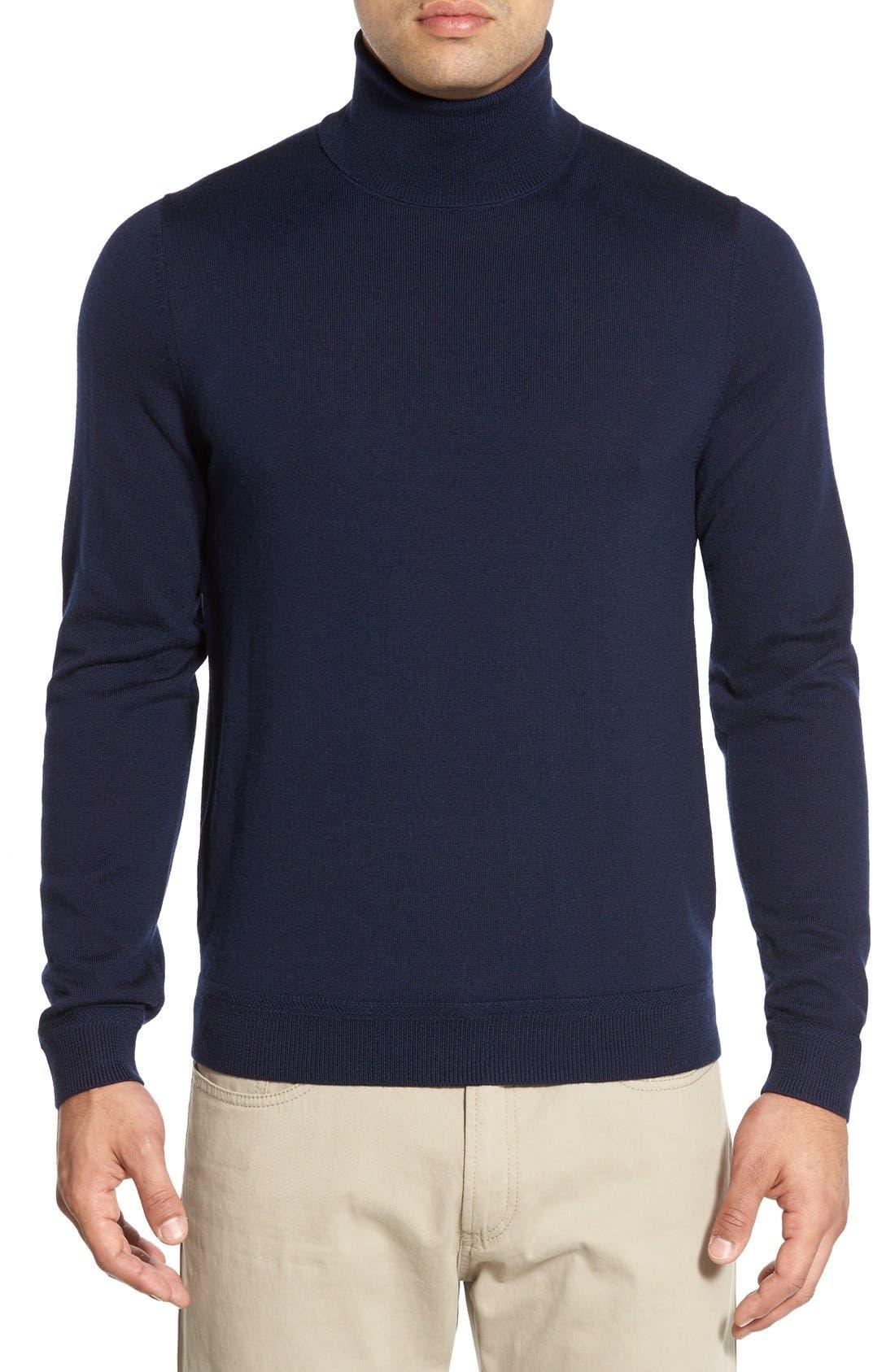 Alternate Image 1 Selected - John W. Nordstrom® Wool Turtleneck Sweater