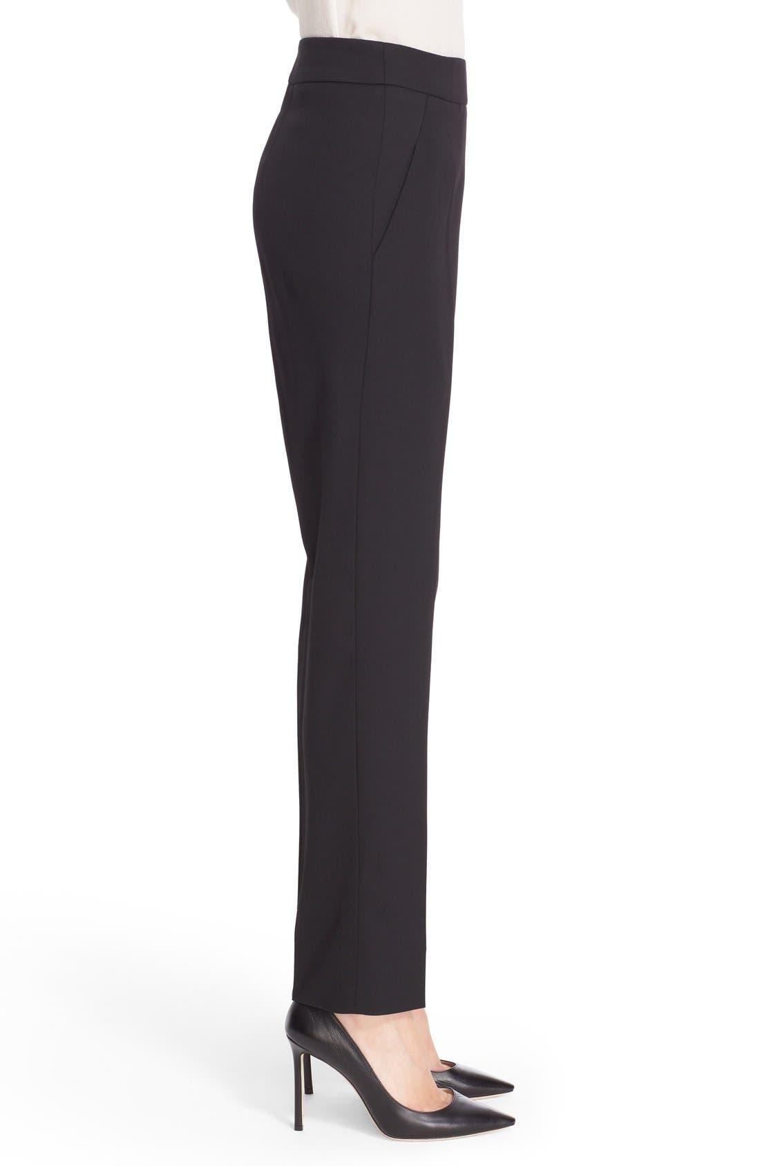 Alternate Image 5  - Oscar de la Renta Stretch Wool Straight Leg Pants