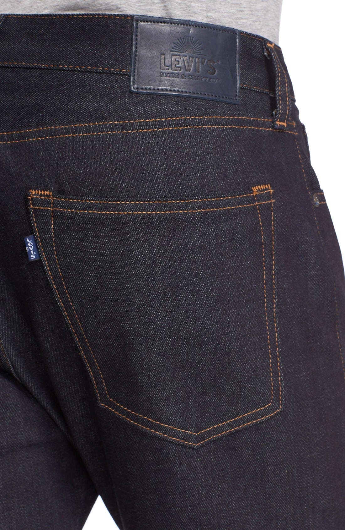 'Tack' Slim Fit Jeans,                             Alternate thumbnail 4, color,                             Indigo