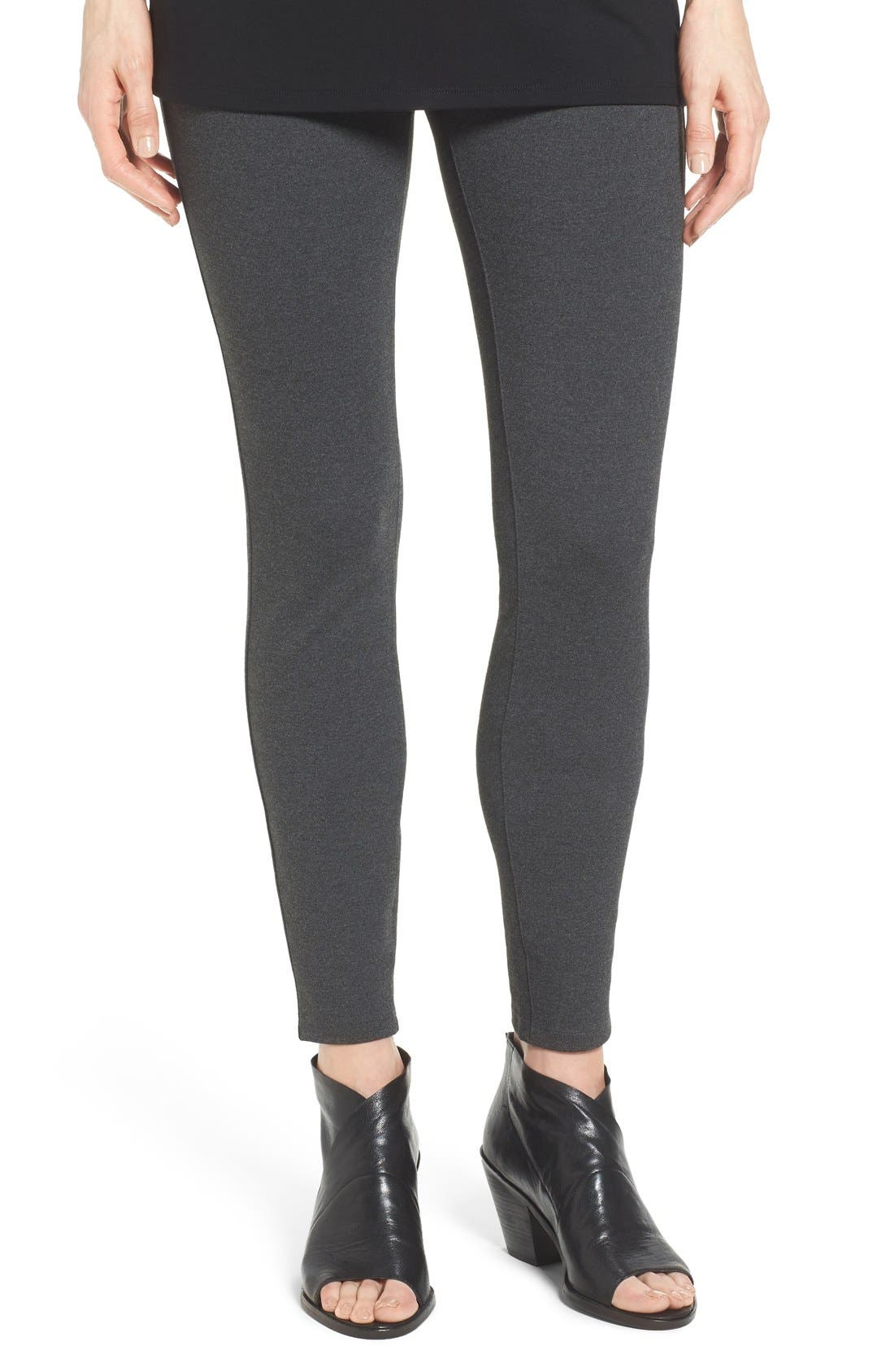 Alternate Image 1 Selected - Eileen Fisher Ponte Knit Leggings (Regular & Petite)