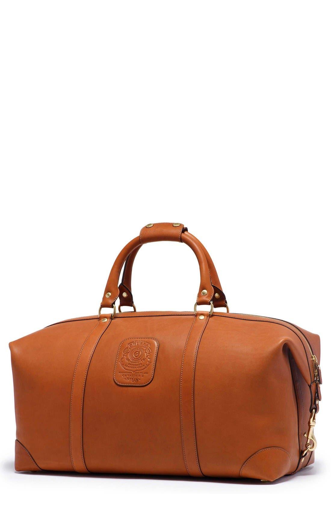 Ghurka 'Cavalier III' Leather Duffel Bag