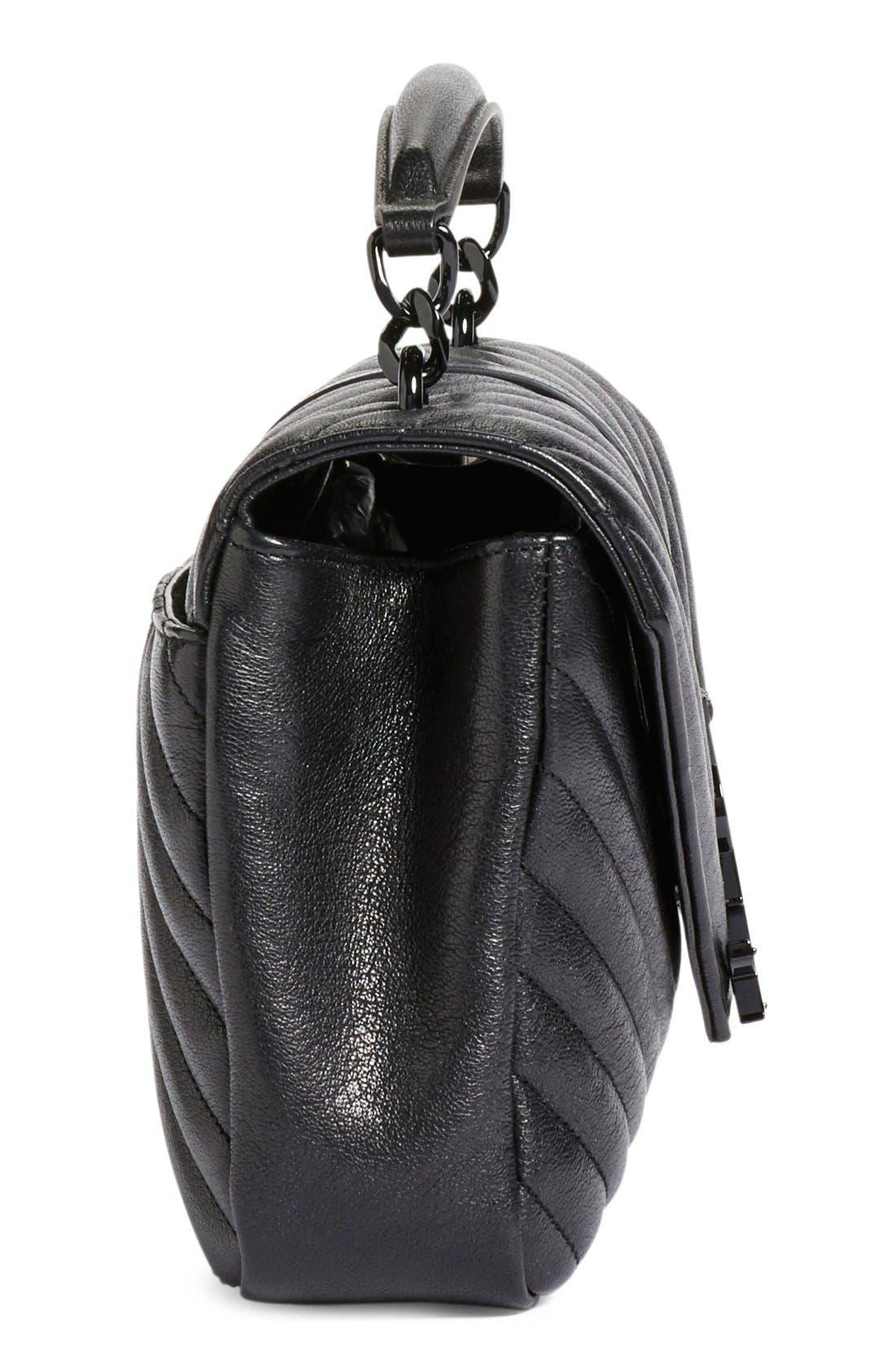 Alternate Image 4  - Saint Laurent 'Medium College' Quilted Leather Shoulder Bag