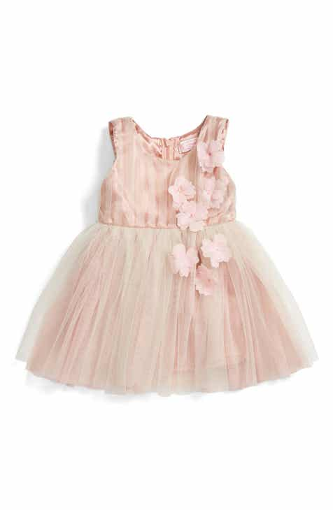 Popatu Sleeveless Rosette Tulle Dress (Baby Girls) 0b9b7e0b4beb