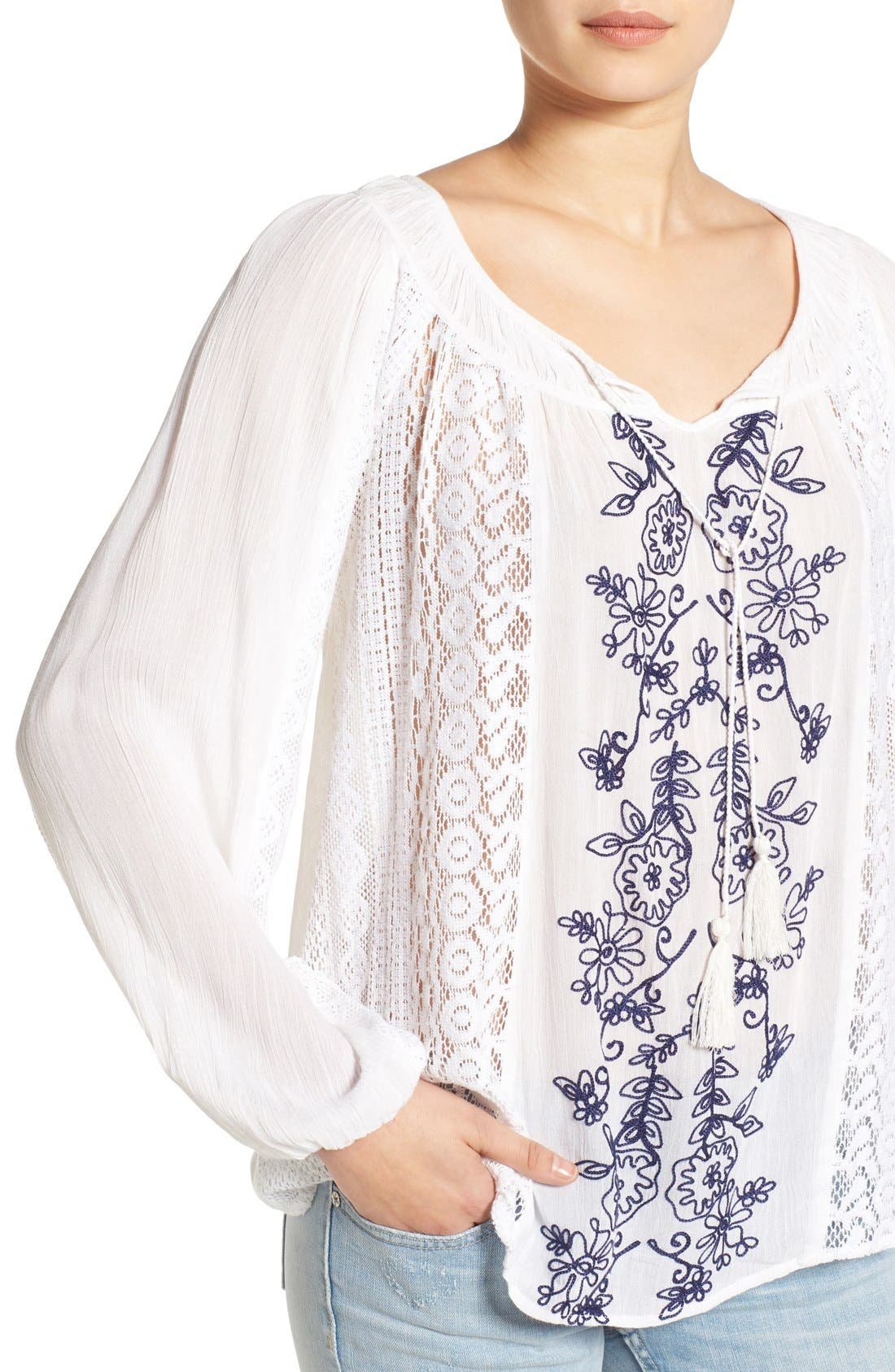 Alternate Image 4  - O'Neill 'Holland' Embroidered Woven Top