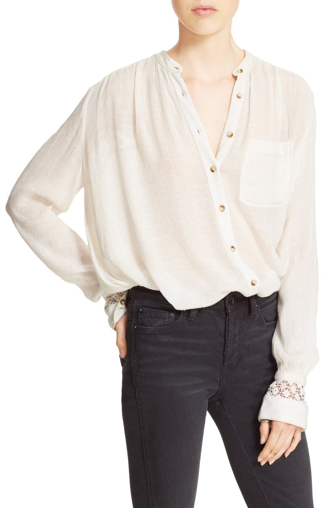 Main Image - Free People 'The Best' Button Front Blouse