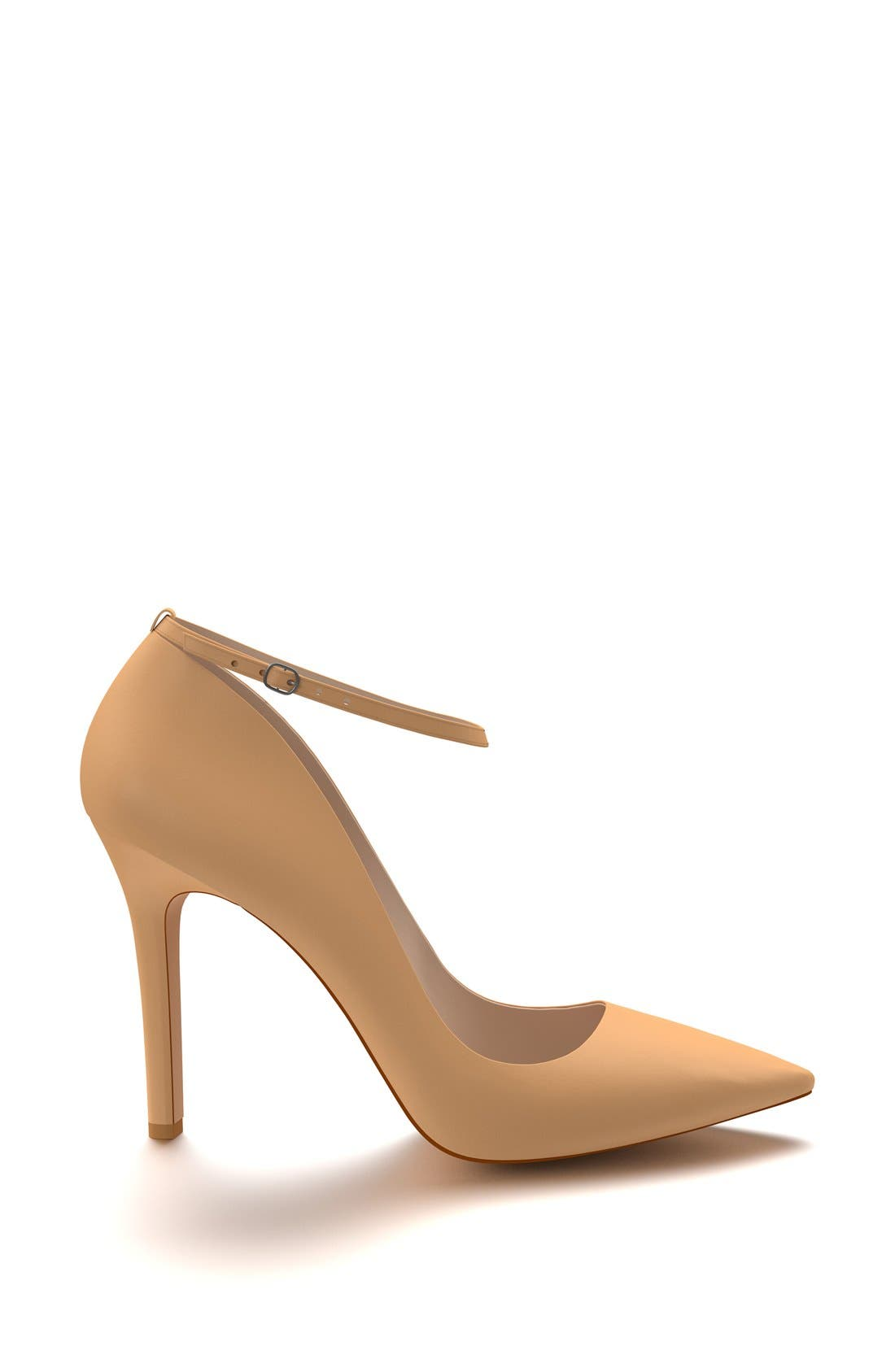Ankle Strap Pump,                             Alternate thumbnail 4, color,                             Spiced Tan Leather