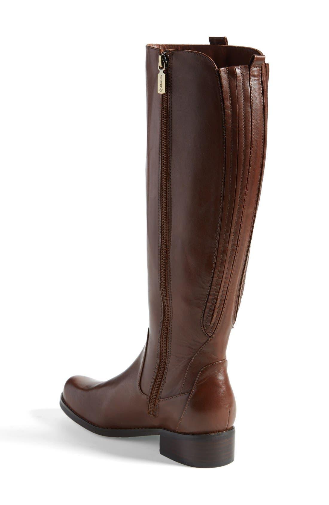 Alternate Image 2  - Blondo 'Venise' Waterproof Leather Riding Boot (Women)