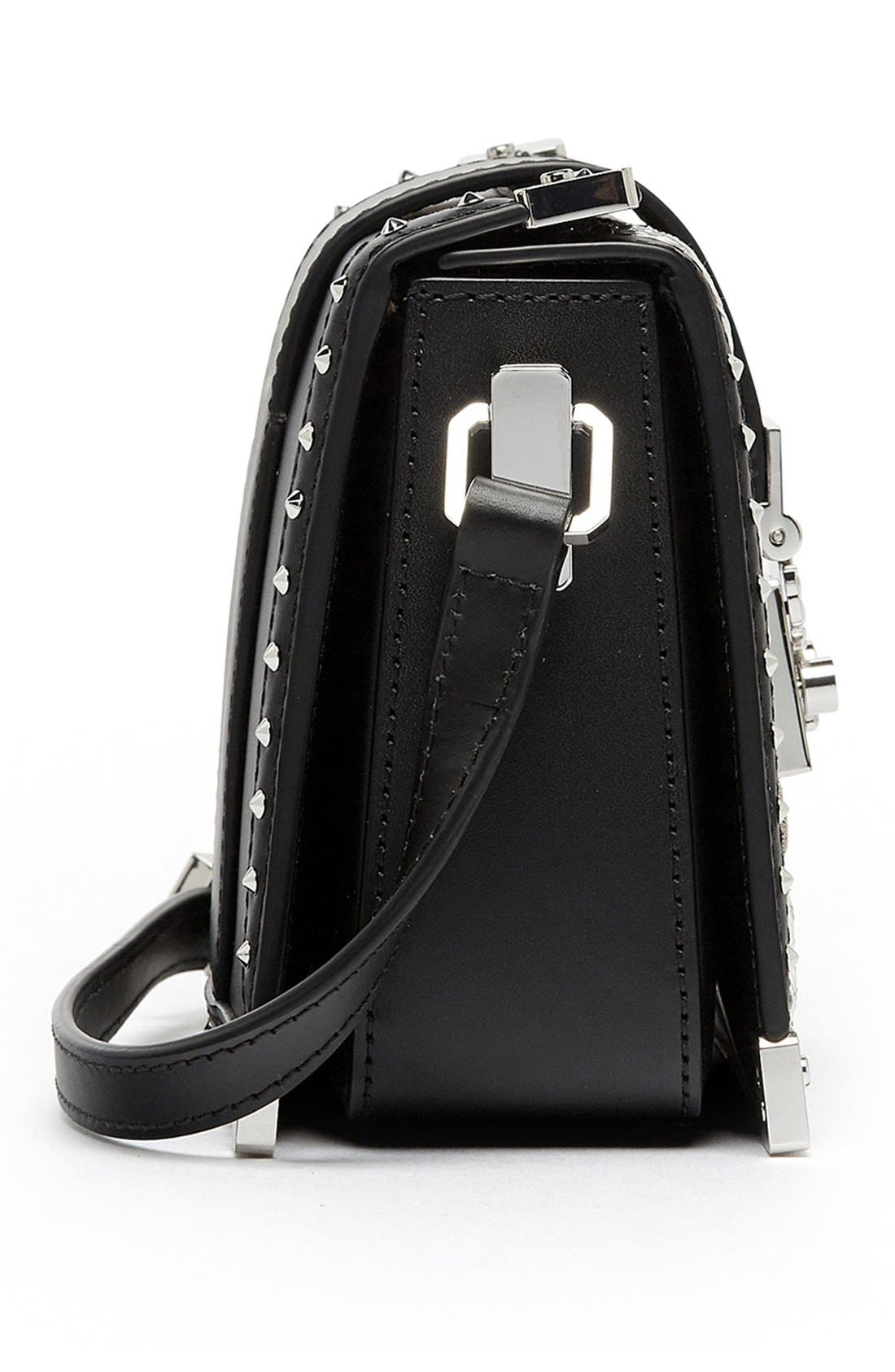 Alternate Image 5  - MCM 'Mini Mitte - Brocade' Embellished Leather Crossbody Bag