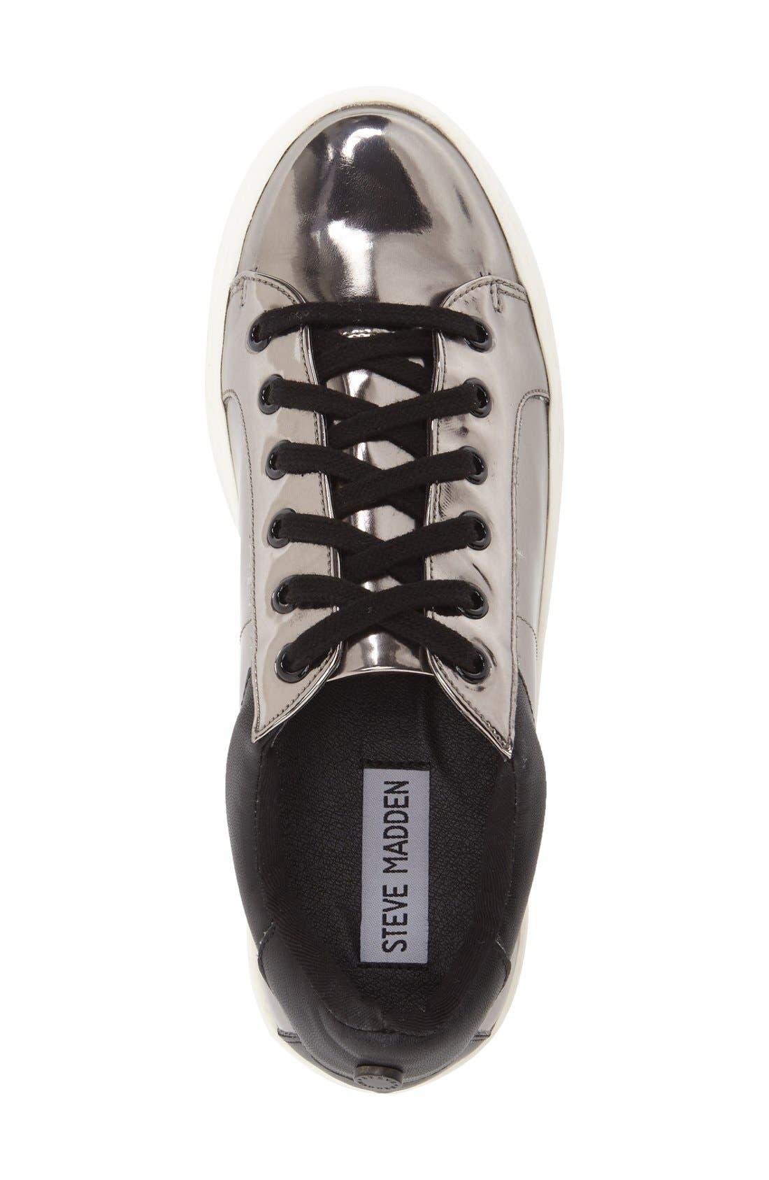 Alternate Image 3  - Steve Madden Bertie Metallic Platform Sneaker (Women)