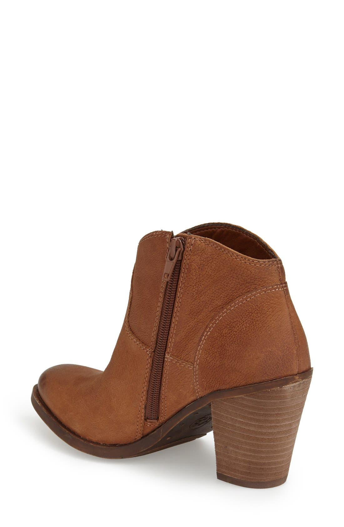 'Eller' Bootie,                             Alternate thumbnail 2, color,                             Toffee Leather