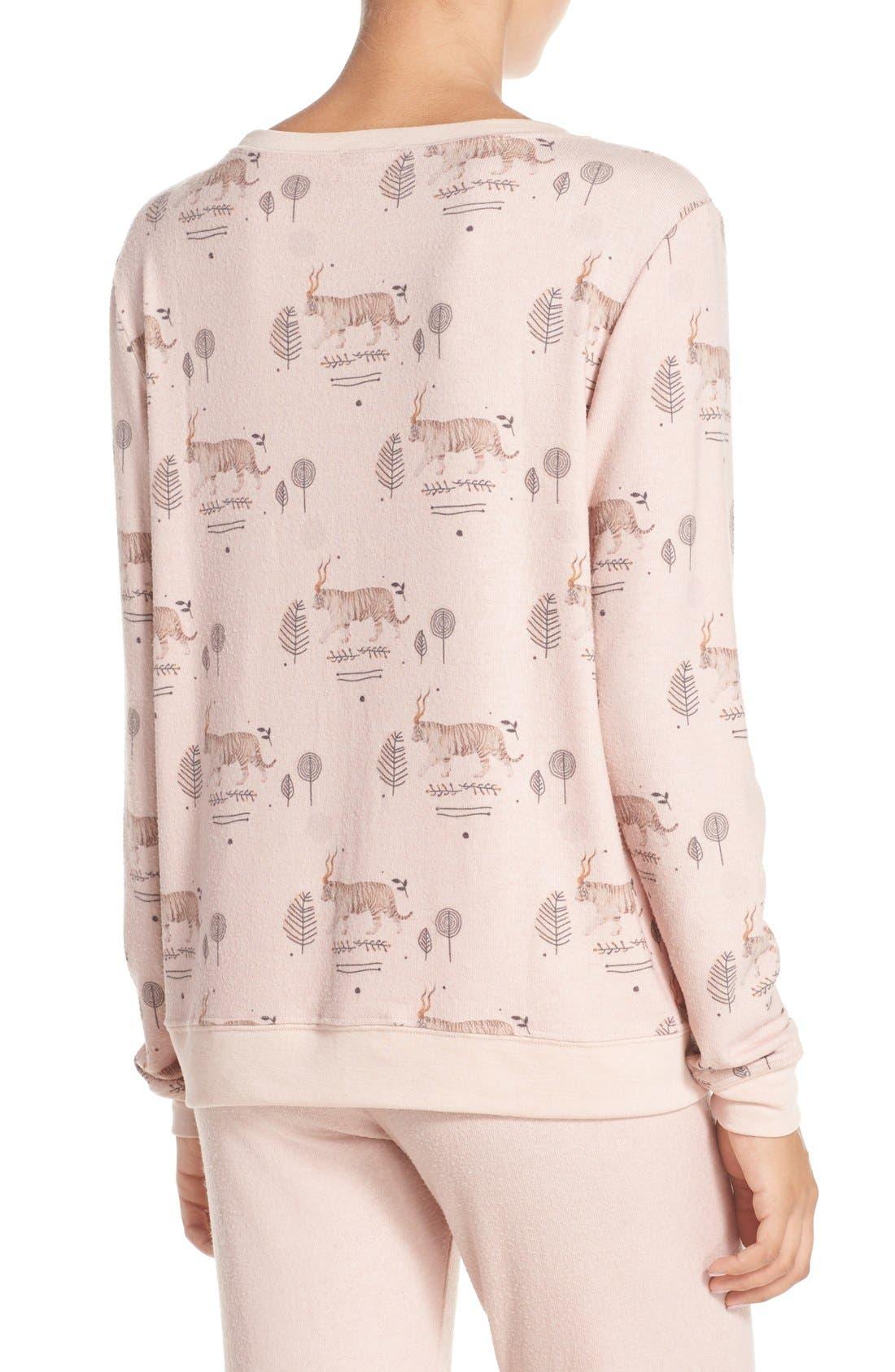 Alternate Image 2  - All Things Fabulous Tiger Print Sweatshirt