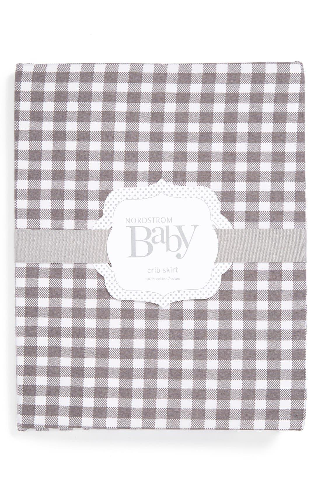 Alternate Image 1 Selected - Nordstrom Baby Gingham Crib Skirt
