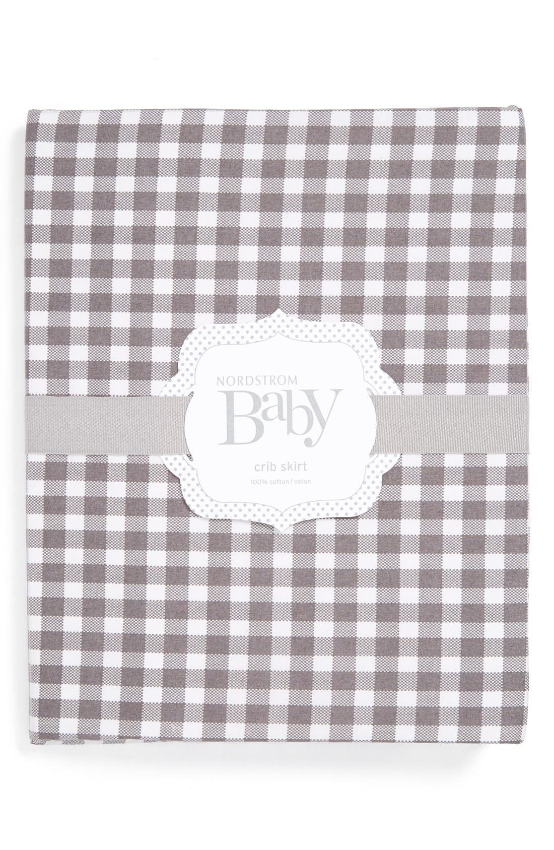 Nordstrom Baby Gingham Crib Skirt