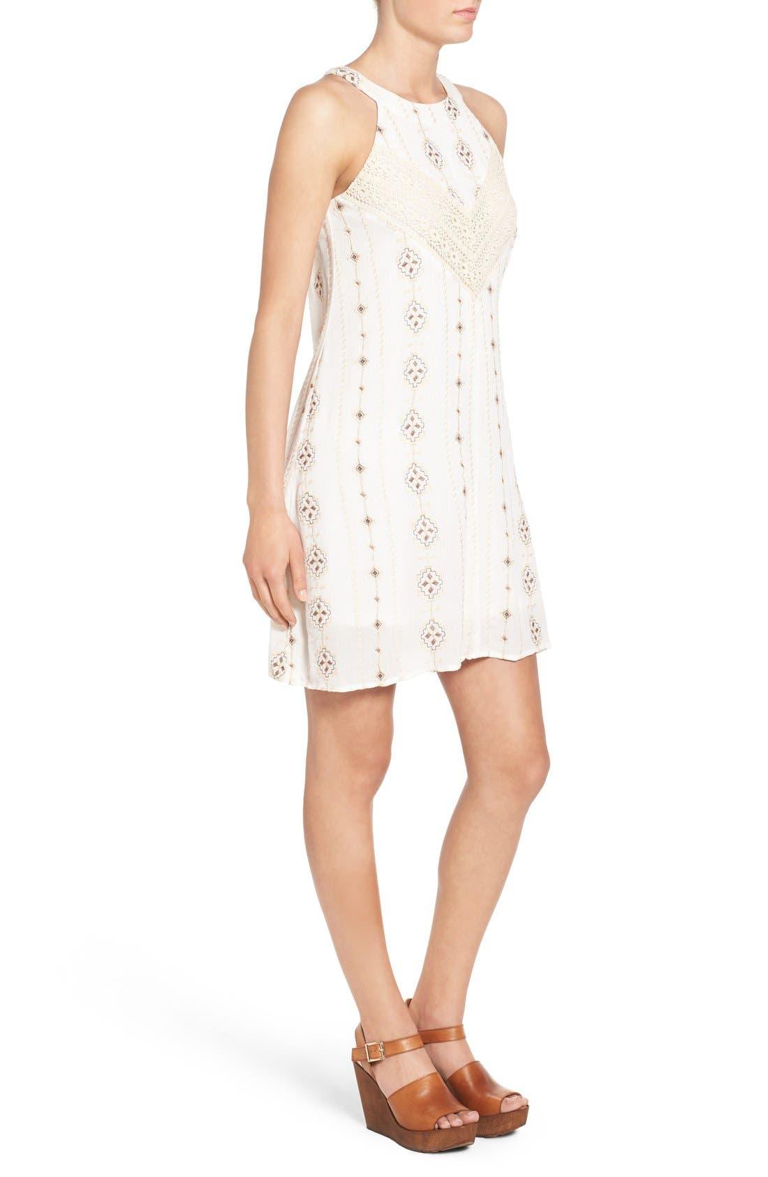 Alternate Image 3  - Roxberi Elle Crochet Inset Embroidered Shift Dress
