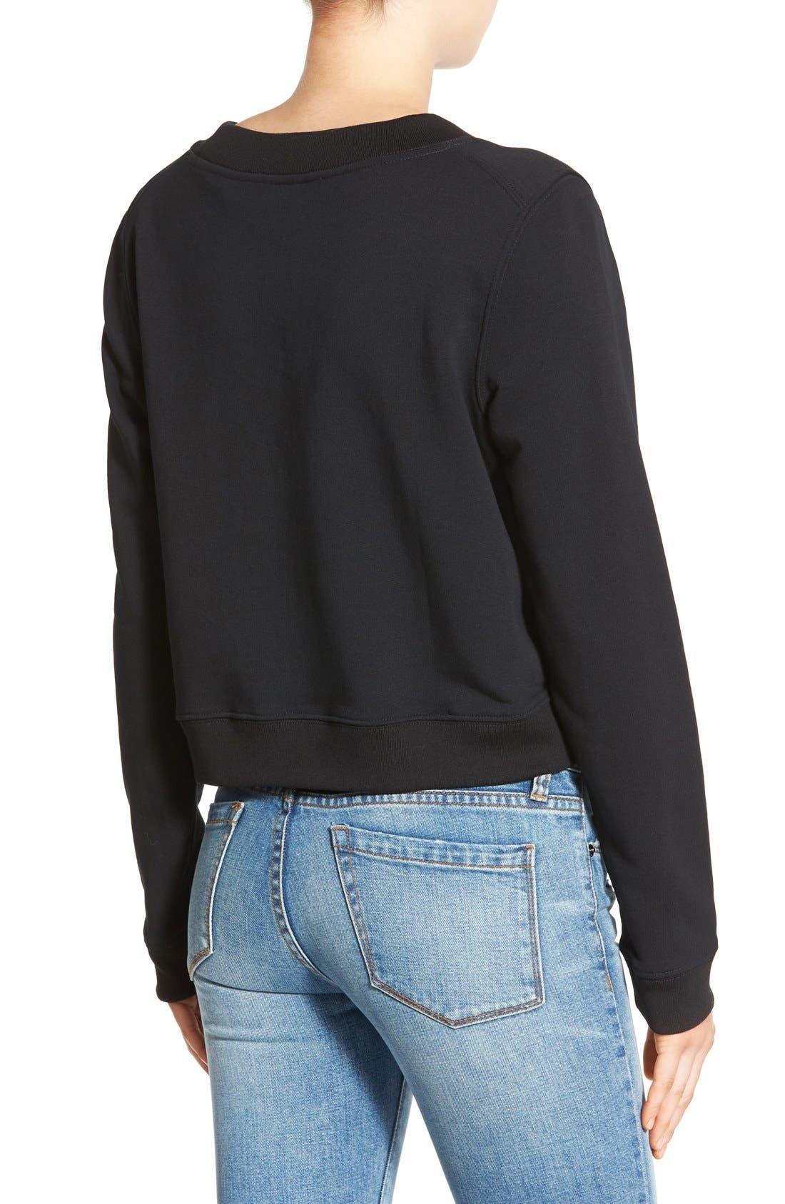 Alternate Image 2  - Cheap Monday 'Exact' Zip Hem Sweatshirt