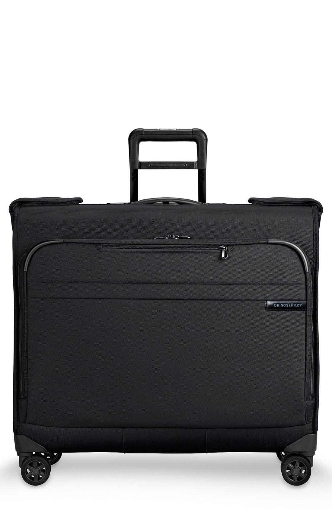 'Baseline' Wheeled Garment Bag,                             Main thumbnail 1, color,                             Black