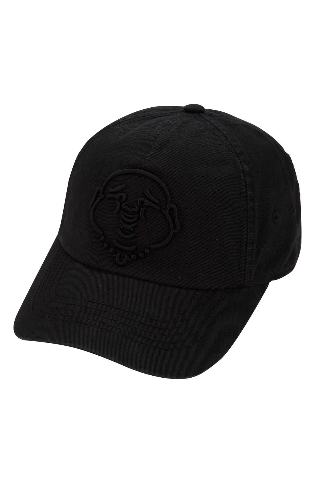 True Religion Brand Jeans '3D Buddha' Baseball Cap