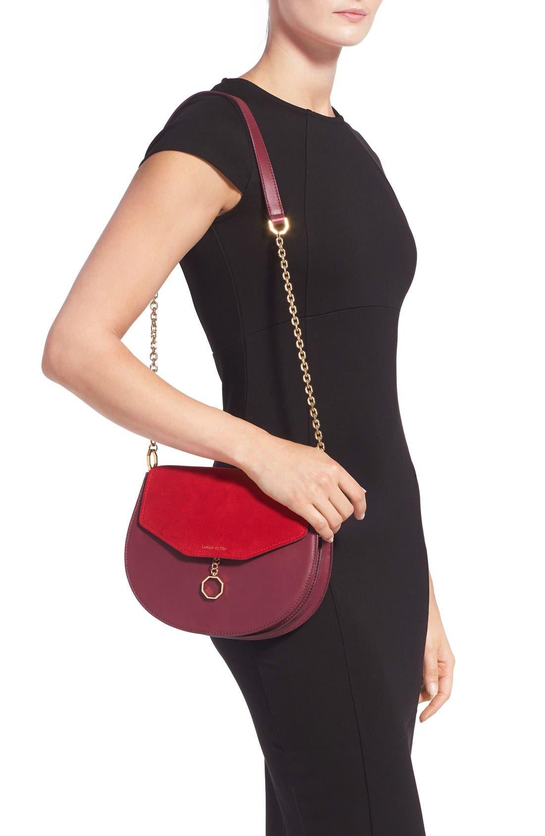Alternate Image 2  - Louise et Cie 'Jael' Suede & Leather Shoulder Bag