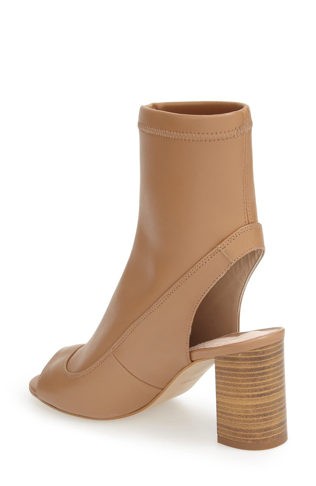 Alternate Image 2  - Topshop 'Melon' Cutout Stretch Bootie (Women)