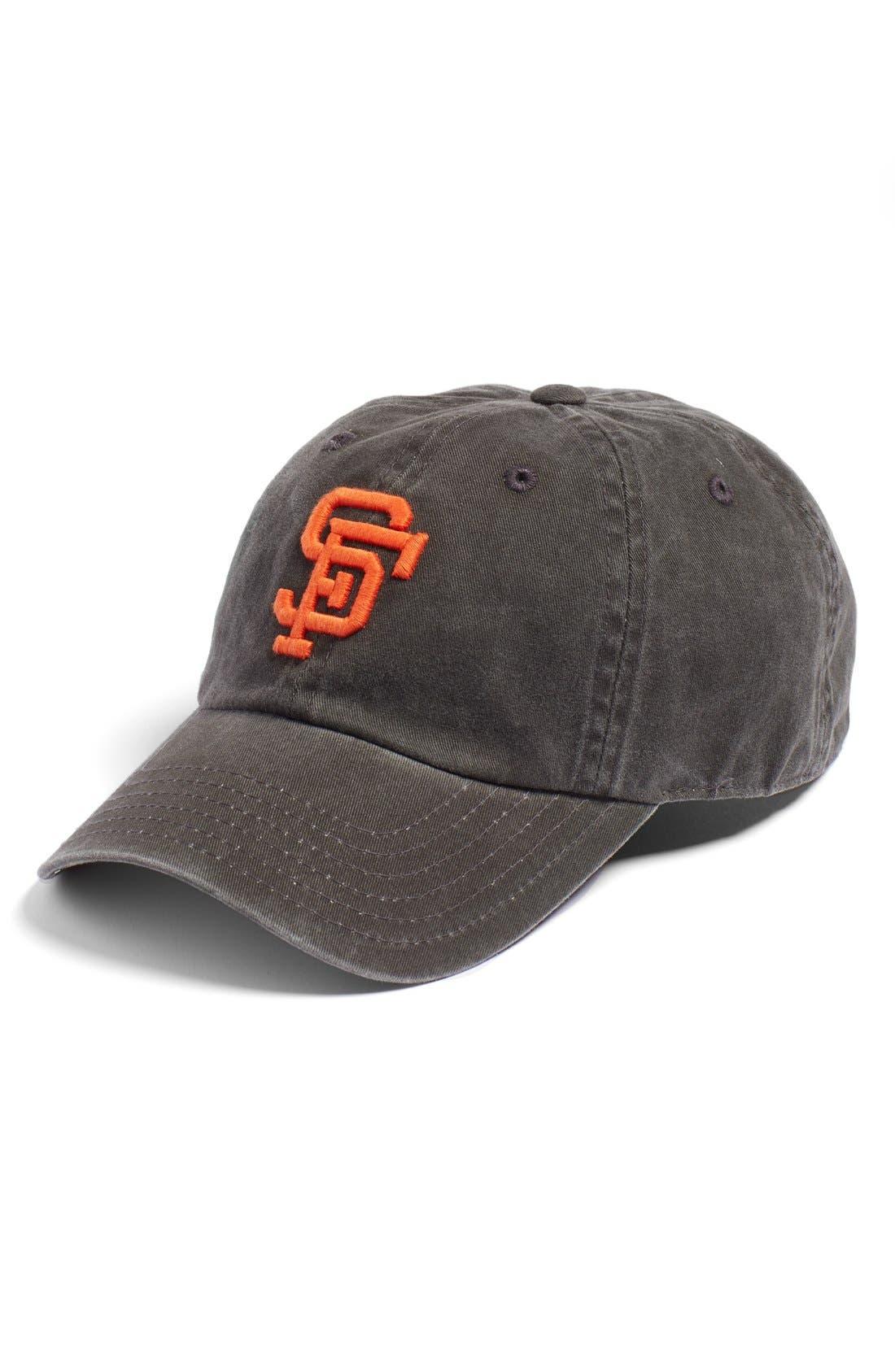 New Raglan San Francisco Giants Baseball Cap,                         Main,                         color, Black