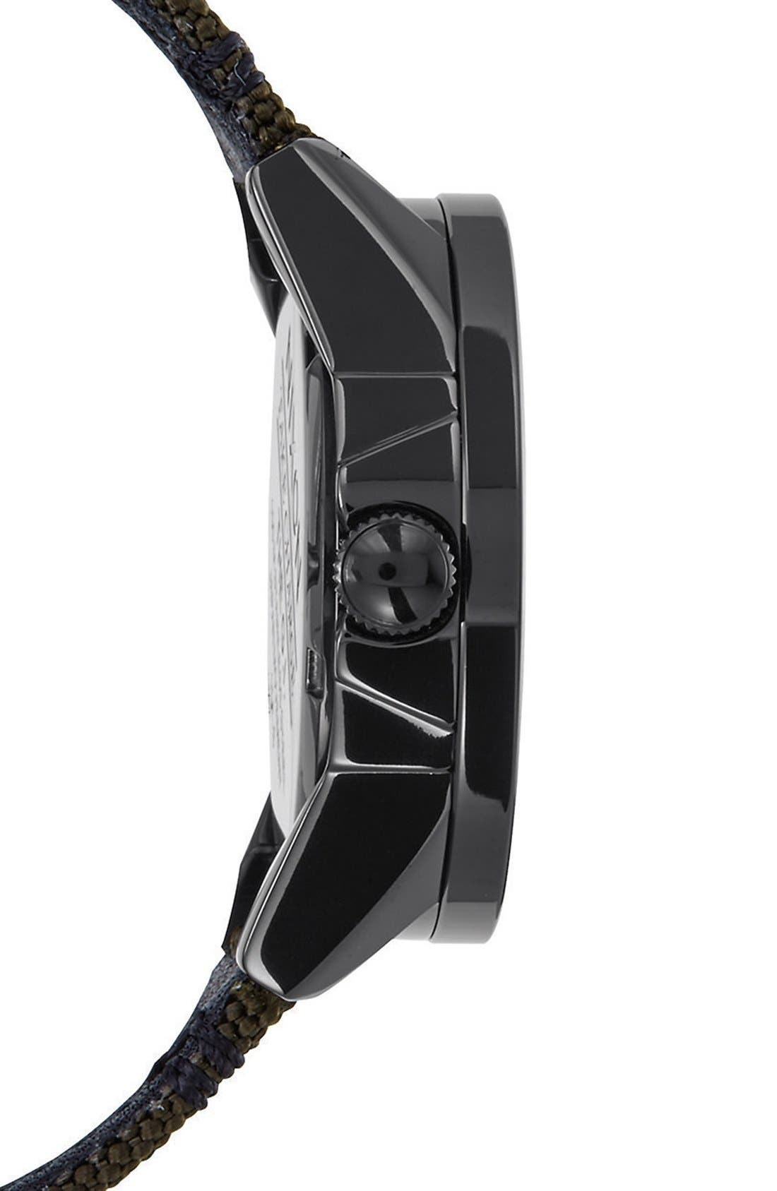 'G.I.' Round Dial Nylon Strap Watch, 36mm,                             Alternate thumbnail 3, color,                             Olive/ Black