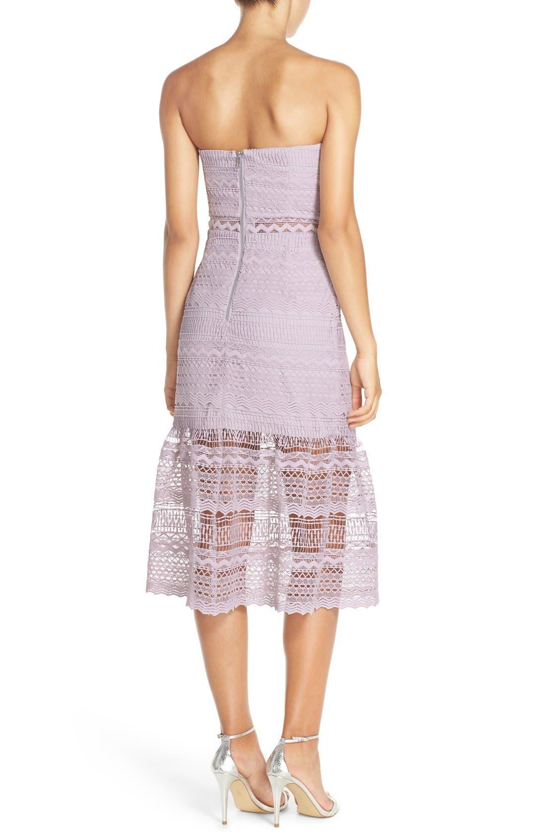 Alternate Image 2  - Bardot 'Lily' Strapless Lace Midi Dress