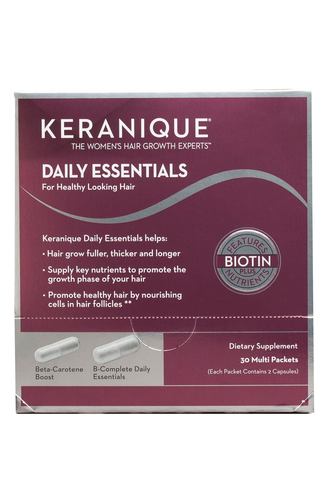 Daily Essentials Dietary Supplement,                         Main,                         color, No Color