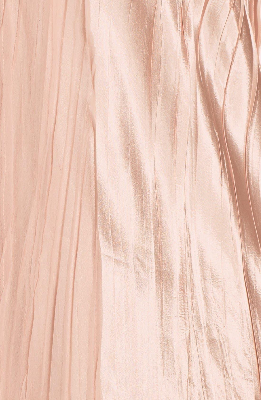 V-Neck Tiered Chiffon & Charmeuse A-Line Dress,                             Alternate thumbnail 5, color,                             Vintage Rose
