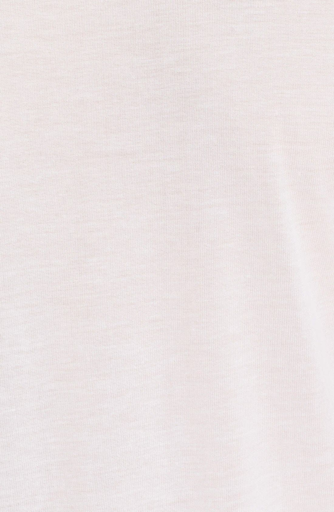 'Tino' Foil Accent Tee,                             Alternate thumbnail 5, color,                             Blanc