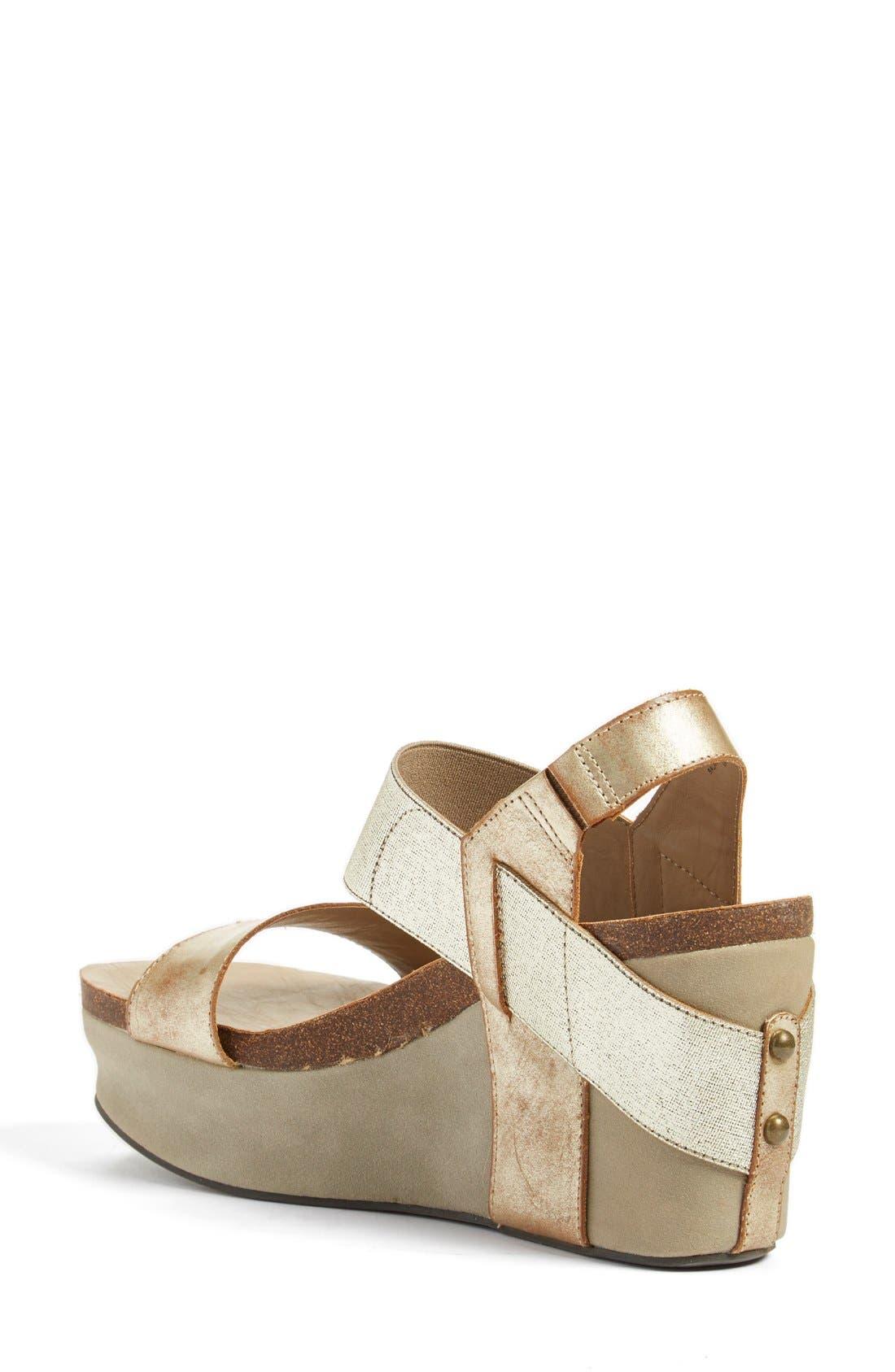 'Bushnell' Wedge Sandal,                             Alternate thumbnail 2, color,                             Gold