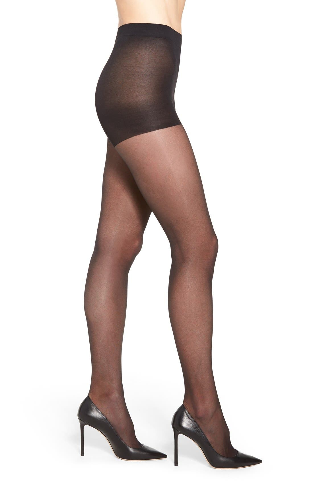 Light Support Pantyhose,                             Main thumbnail 1, color,                             Black