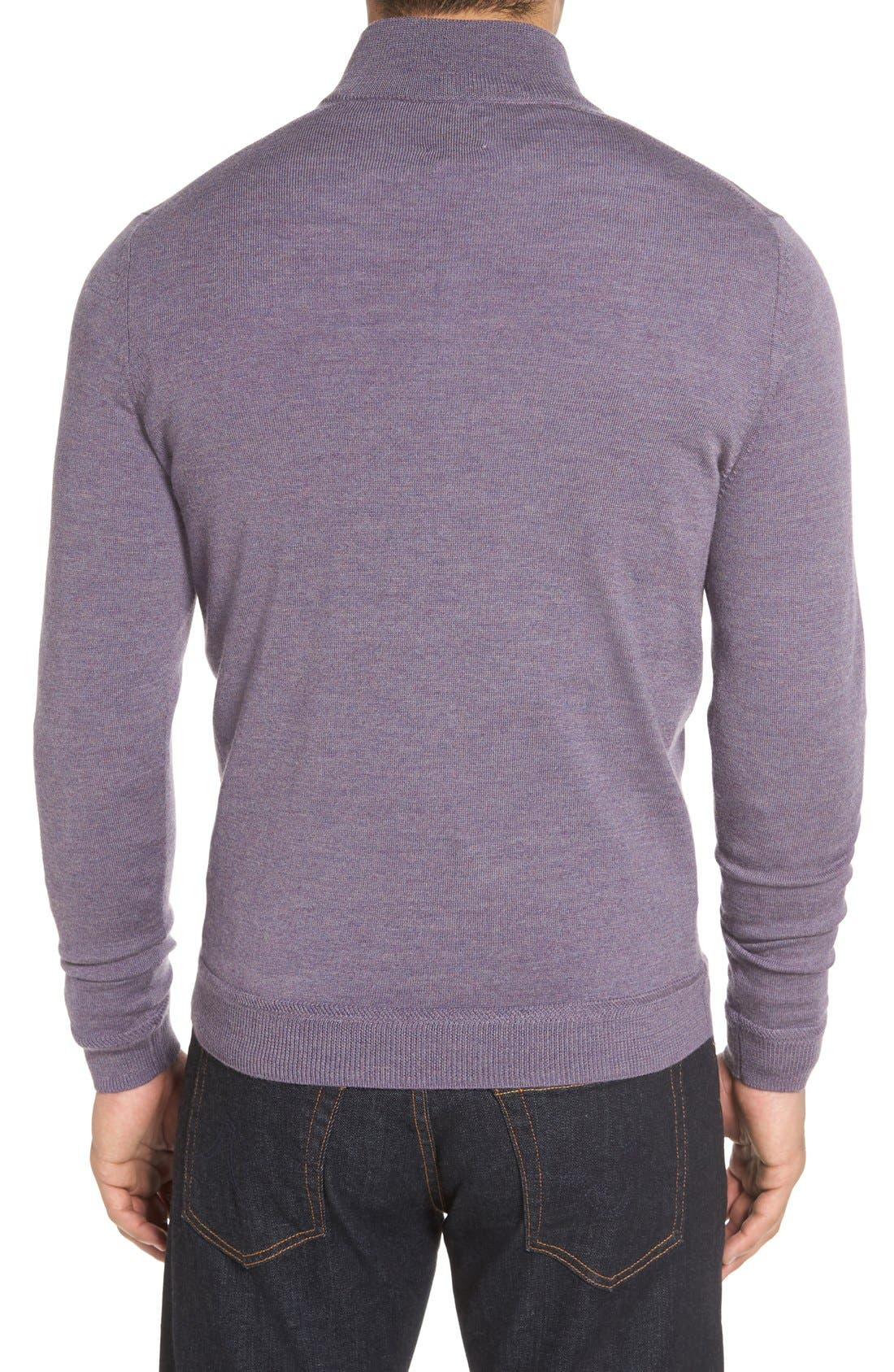 Alternate Image 2  - John W. Nordstrom® Merino Wool Quarter Zip Sweater
