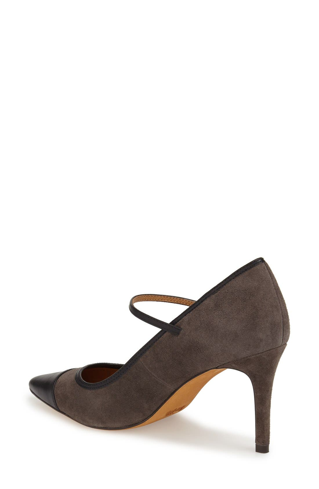 'Smith' Mary Jane Pump,                             Alternate thumbnail 2, color,                             Mink/ Black Suede