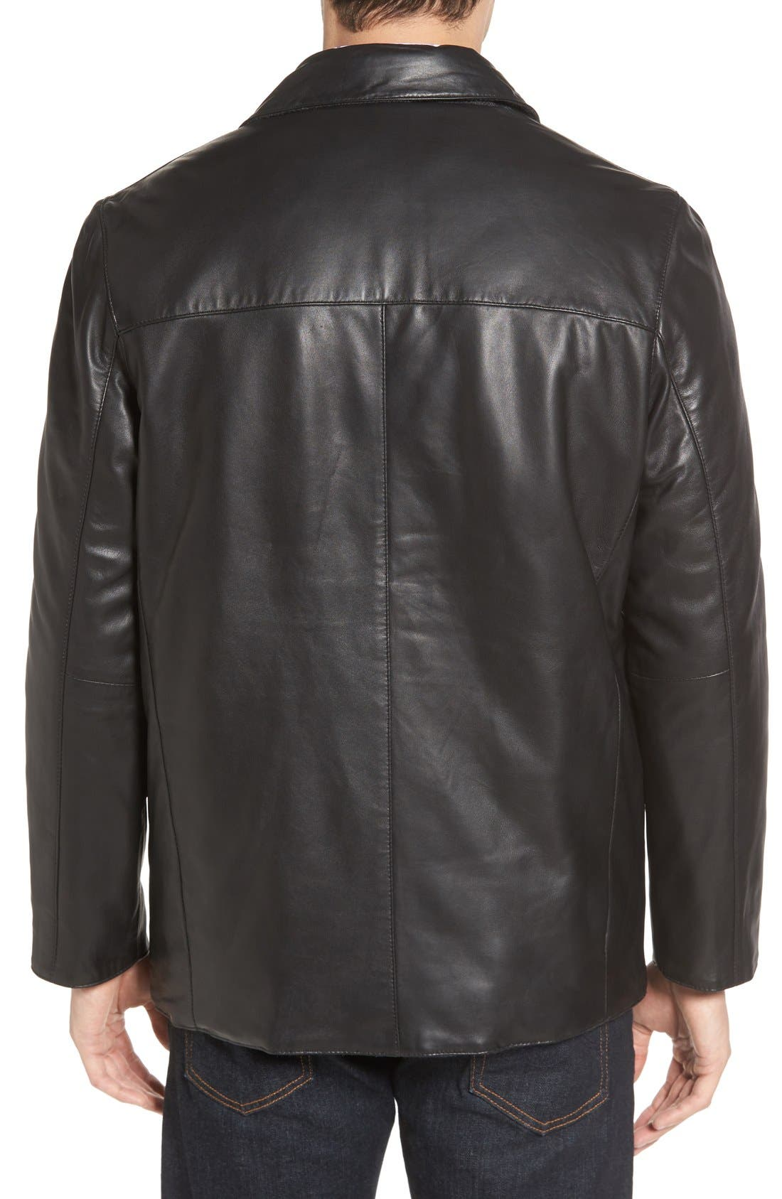Alternate Image 2  - Missani Le Collezioni Reversible Lambskin Leather & Quilted Wool Jacket