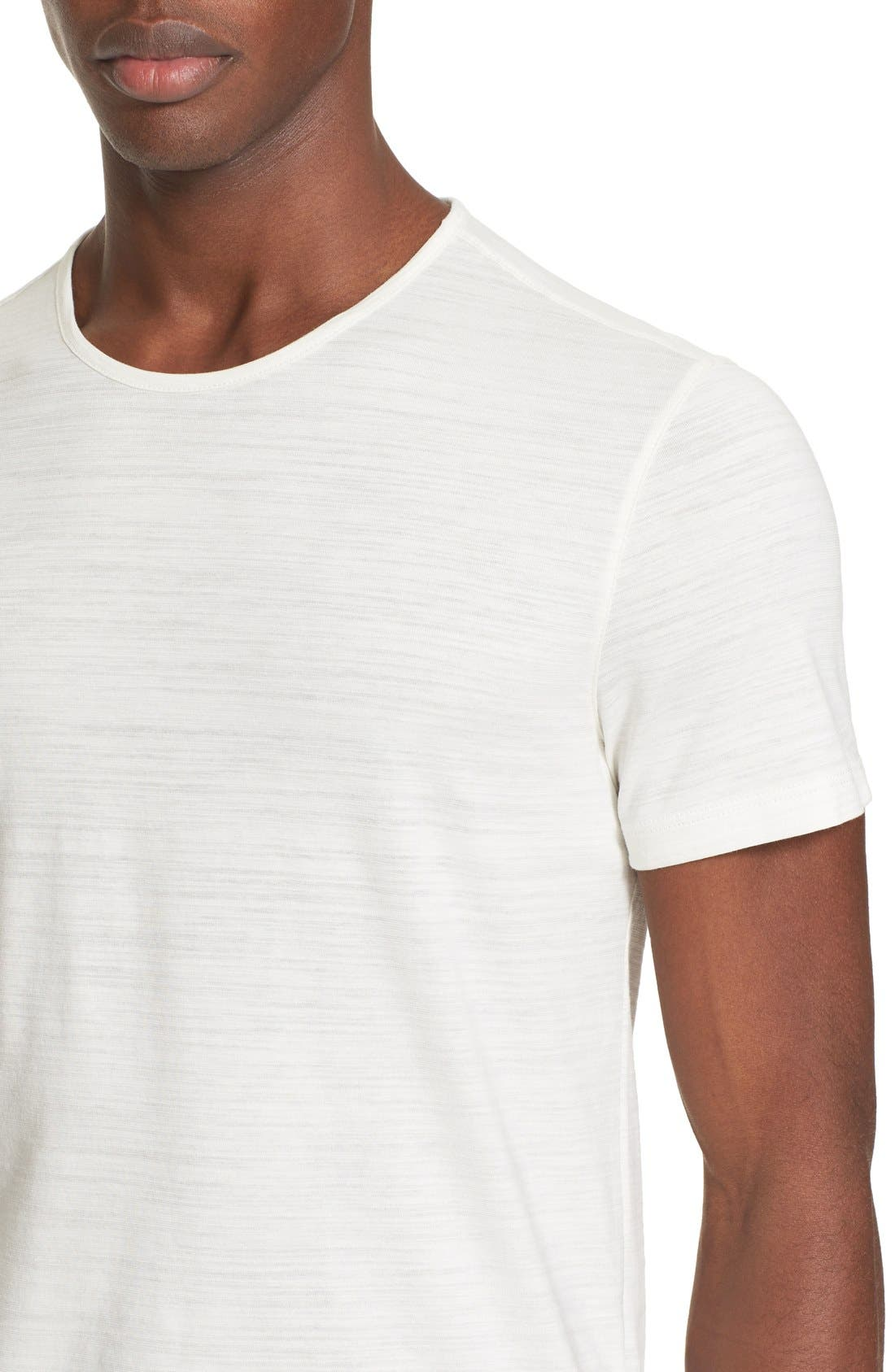Alternate Image 4  - John Varvatos Collection Slub Pima Cotton T-Shirt