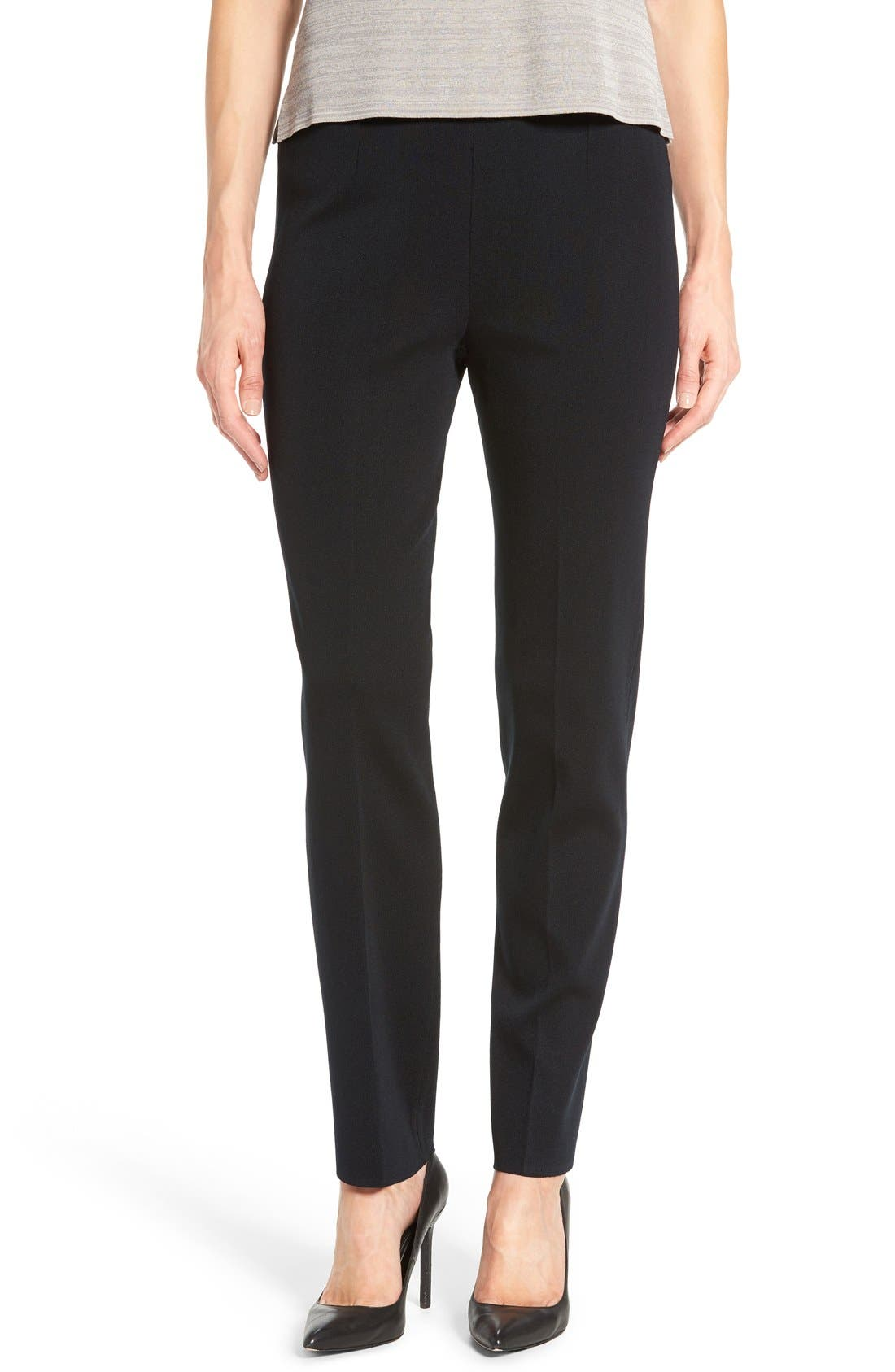 Pull-On Knit Pants,                         Main,                         color, Black
