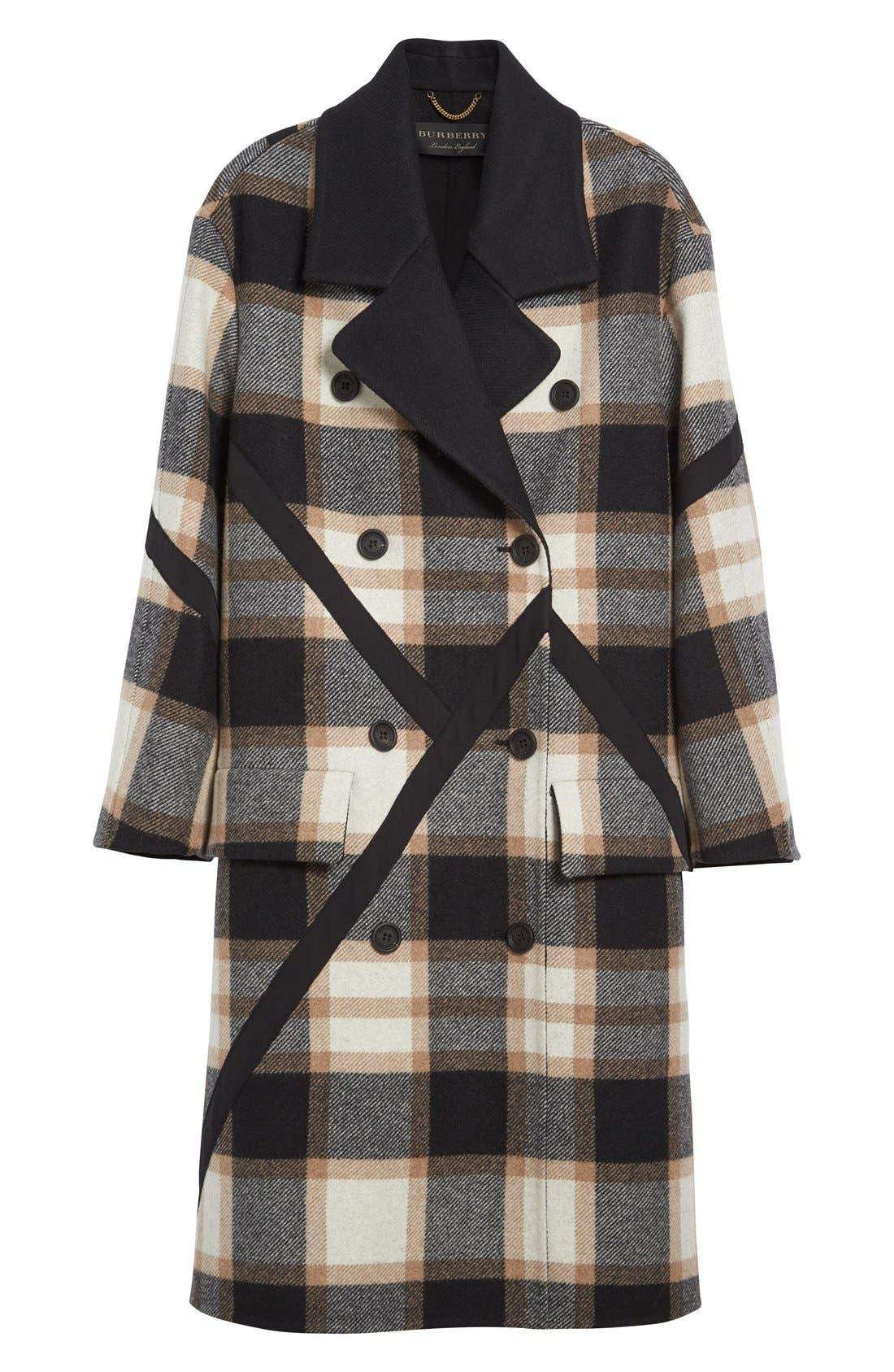 Alternate Image 4  - Burberry Tartan Plaid Wool Coat